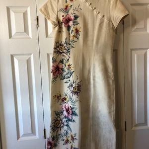 """YOUNG HAWAII"" Long Mandarin collared dress"